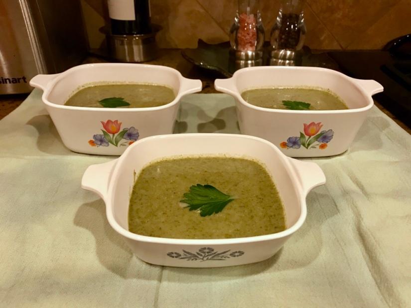 Creamy Broccoli, Kale and PotatoSoup