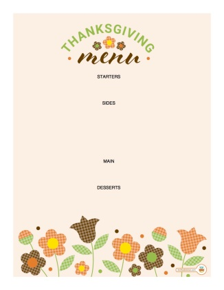 Free Printable Thanksgiving Menu Thrifted Kitchen