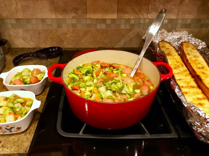Hearty Kielbasa and Brussels SproutSoup