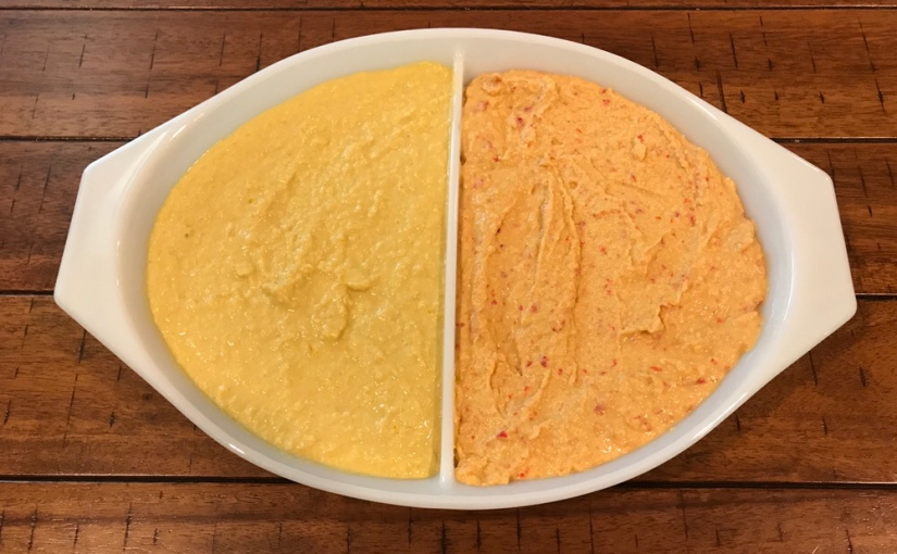 Hummus with Sweet and Spicy Roasted Peppers