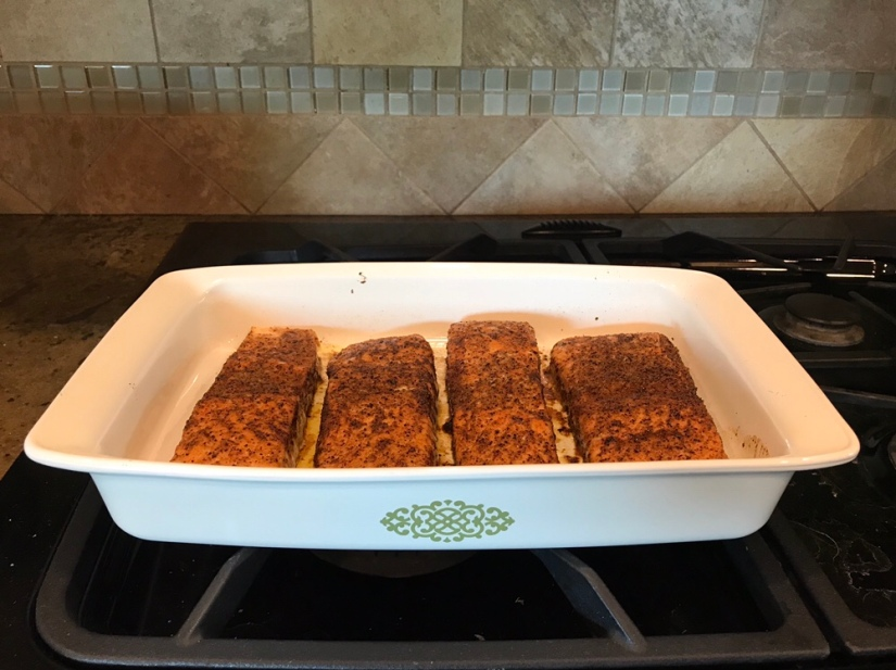 Oven-Baked Salmon with Chili-Cumin Rub