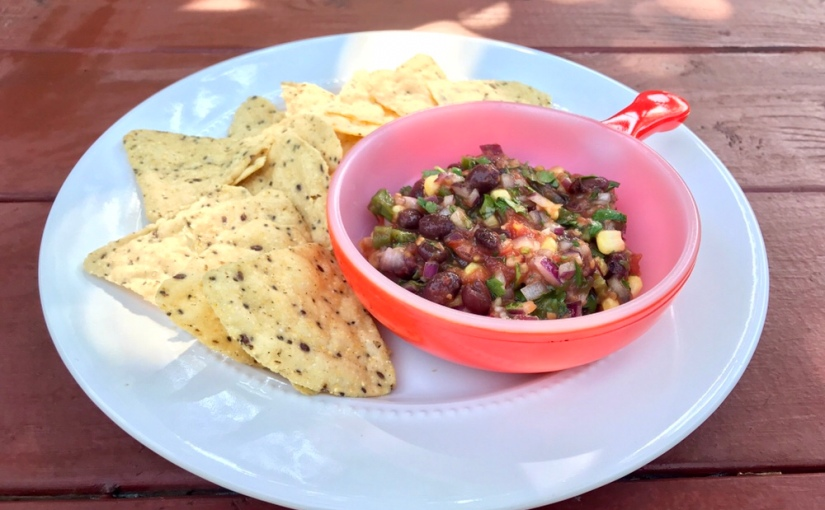Roasted Tomato and Black Bean Salsa