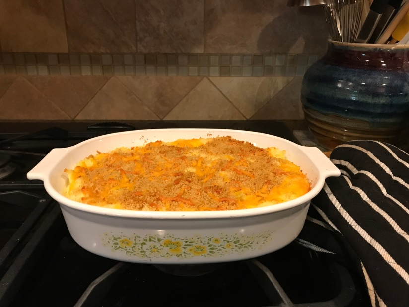 Mashed Potato Casserole with Cheddar and Green Onions