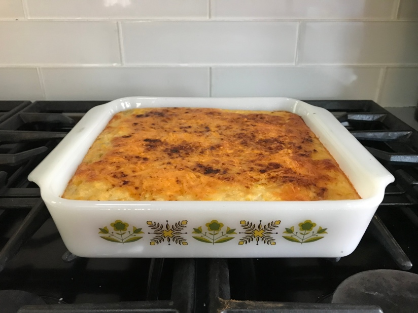 Mom's Green Chile Corn Pudding